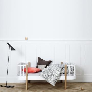 Oliver Furnituren Junior sänky, valkoinen/tammi