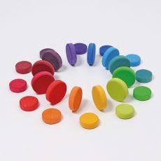Grimm's Wooden Rainbow Coins