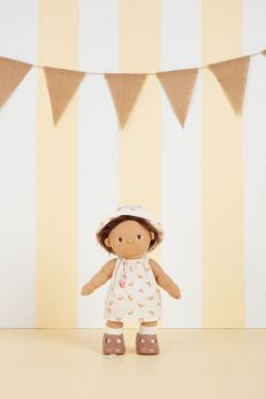Dinkum Doll Cotton Una Rainbow dress set