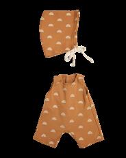 Dinkum Doll Cotton Rolo Romper Set