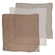 3 pack muslins - Rose Dust