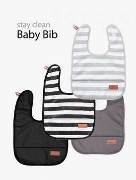 Baby bib, Dark grey