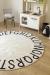 Round ABC Natural - Black 150 cm
