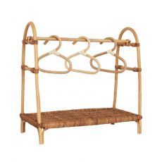 Doll clothing rail