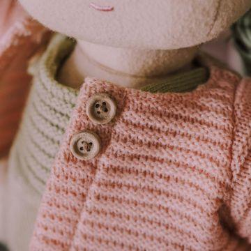 Dinkum Dolls Single Gardigan - Rose