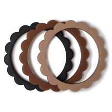 Purulelu Flower Bracelet Black/Caramel/Natural