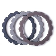 Purulelu Flower Bracelet Dove Gray/Steel/Stone