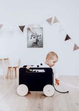 Toy Chest on wheels, blackboard