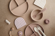 Silicone Feeding Spoons Blush/Shifting Sand