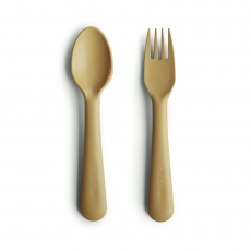 Mushie Fork & Spoon Mustard
