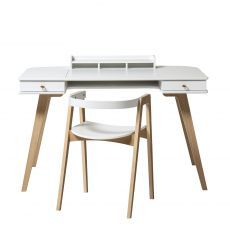 Wood desk 66 cm & armchair