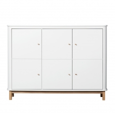 Oliver Furniture Wood Multi cupboard White/Oak