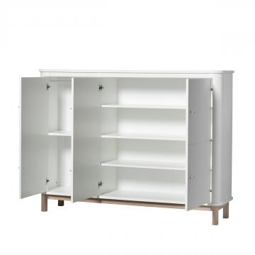 Oliver Furniture Wood Multi cupboard White/Oak
