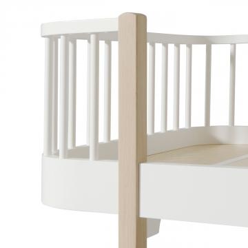 Junior sänky, valkoinen/tammi