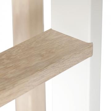 Low Loft-vuode, valkoinen/tammi