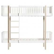 Oliver Furniture Wood-collection bunk bed ladder front, white/oak