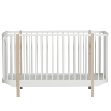 Oliver Furnituren Wood- collection cot, white/oak