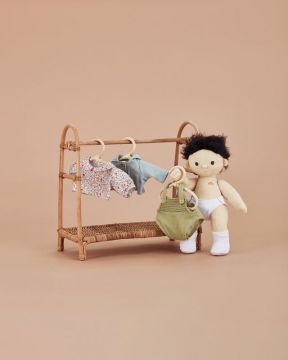 Doll clothing rail