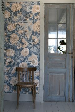 Tapetti Poppies for Marlene, Dusty Blue