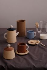 Tea set terra and blue