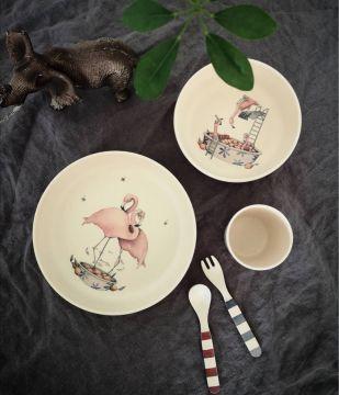 Ruokailusetti, Flamingo