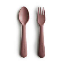 Mushie Fork & Spoon Woodchuck
